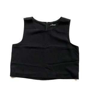 Club Monaco cropped black sleeveless tank